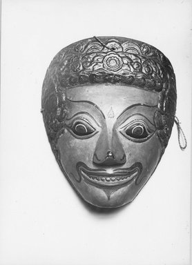 Theatrical Mask, 19th century. Wood, pigment Brooklyn Museum, Brooklyn Museum Collection, 34.33. Creative Commons-BY