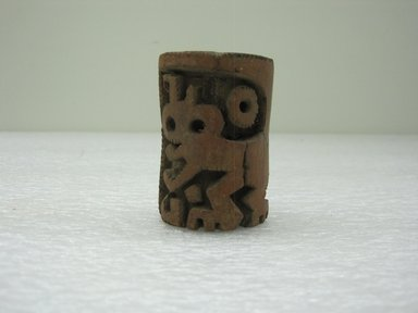 Roller Stamp, 200-800. Ceramic, 1 5/8 x 1 5/8 x 2 3/8 in. (4.1 x 4.1 x 6 cm). Brooklyn Museum, Alfred W. Jenkins Fund, 34.4180. Creative Commons-BY