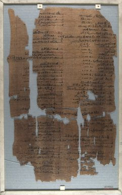Brooklyn Museum: Fragment of Wilbour Papyrus