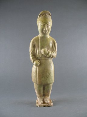 Tomb Figure of an Attendant, 581-618. Earthenware with lead glaze, 10 3/4 in. (27.3 cm). Brooklyn Museum, Brooklyn Museum Collection, 34.5642. Creative Commons-BY