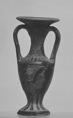 Attic. Miniature Loutrophoros, early 4th century B.C.E. Terracotta, painted, 2 3/4 x Diam. 1 1/4 in. (7 x 3.2 cm). Brooklyn Museum, Charles Edwin Wilbour Fund, 34.721. Creative Commons-BY