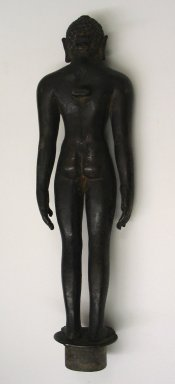 Large Figure of Jina, 11th-13th Century. Brass, 13 1/2 x 3 13/16 in. (34.3 x 9.7 cm). Brooklyn Museum, Brooklyn Museum Collection, 34.743. Creative Commons-BY