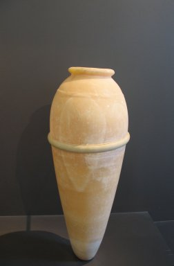 Vase with Pointed Base, from the Burial of King Djoser, ca. 2675-2625 B.C.E. Egyptian alabaster, 23 1/16 x 5 1/16 in. (58.5 x diam. 12.8 cm). Brooklyn Museum, Charles Edwin Wilbour Fund, 34.977. Creative Commons-BY
