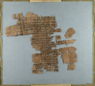 Historical Papyrus in Five Pieces, ca. 1809-1743 B.C.E. Papyrus, ink, 35.1446a: 10 3/8 x 11 13/16 in. (26.3 x 30 cm). Brooklyn Museum, Gift of Theodora Wilbour, 35.1446a-e