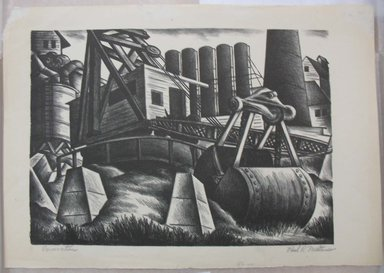 Paul R. Meltsner (American, 1905-1967). Excavation, n.d. Lithograph, Image: 10 1/4 x 14 5/16 in. (26.1 x 36.4 cm). Brooklyn Museum, Gift of the artist, 35.1959