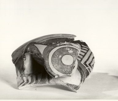 Fragment of a Mycenaean Bottle, 1425/1400-1325/1300 B.C.E. Pottery, painted, Greatest Diam. 3 1/16 in. (7.8 cm). Brooklyn Museum, Gift of the Egypt Exploration Society, 35.2018. Creative Commons-BY