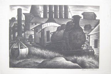 Paul R. Meltsner (American, 1905-1967). The Iron Horse, 20th century. Lithograph on wove paper (possibly Rives), Image: 10 7/16 x 14 13/16 in. (26.5 x 37.7 cm). Brooklyn Museum, 35.2263