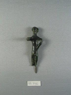 Male Figure, ca.1600 B.C.E. Bronze, 3 3/16 x 1 5/16 in. (8.1 x 3.4 cm). Brooklyn Museum, Charles Edwin Wilbour Fund, 35.746. Creative Commons-BY