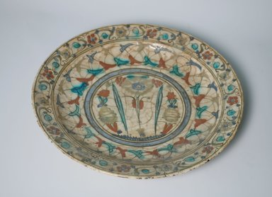Plate, 17th Century. Ceramic, 2 3/16 x 13 1/8 in. (5.5 x 33.3 cm). Brooklyn Museum, Gift of Frank L. Babbott, 35.830. Creative Commons-BY