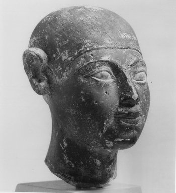Small Head of a Boy, 2675-2170 B.C.E. Limestone, 4 x 2 3/4 x 1 9/16 in. (10.1 x 7 x 4 cm). Brooklyn Museum, Charles Edwin Wilbour Fund, 36.208. Creative Commons-BY