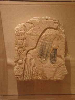 Relief of a Nobleman, ca. 1295-1070 B.C.E. Limestone, painted, 20 3/16 x 17 1/4 in. (51.3 x 43.8 cm). Brooklyn Museum, Charles Edwin Wilbour Fund, 36.261. Creative Commons-BY