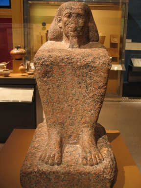 Block Statue of the Son of Tita, ca. 1836-1759 B.C.E. Granite, 26 3/8 in. (67 cm). Brooklyn Museum, Charles Edwin Wilbour Fund, 36.617. Creative Commons-BY