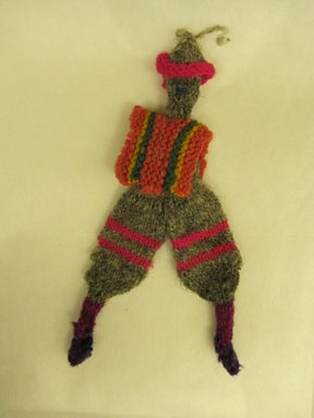 Peruvian (unidentified). Male Doll, ca. 1936. Wool, 4 1/8 x 1 15/16 in. (10.5 x 5 cm). Brooklyn Museum, Gift of Dr. John H. Finney, 36.731. Creative Commons-BY