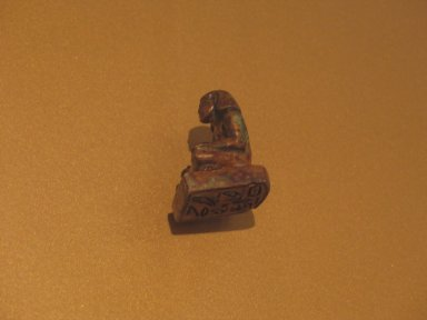 Stamp Seal of Meru the 'Answerer of Horus [the King]', ca. 1838-1759 B.C.E. Steatite, glazed, 1 9/16 x 7/8 x 13/16 in. (4 x 2.2 x 2 cm). Brooklyn Museum, Charles Edwin Wilbour Fund, 36.837. Creative Commons-BY