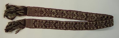Mapuche. Belt, early 20th century. Wool, 2 15/16 x 75 9/16 in. (7.5 x 192 cm). Brooklyn Museum, Ella C. Woodward Memorial Fund, 36.923. Creative Commons-BY