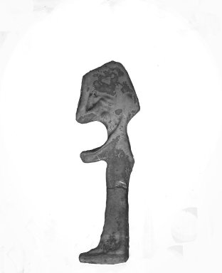 Inlay of a Mourning Woman, Probably Nephthys, 525-30 B.C.E. Glass, 1 5/8 x 1/2 x 1/8 in. (4.1 x 1.3 x 0.3 cm). Brooklyn Museum, Charles Edwin Wilbour Fund, 37.1156E. Creative Commons-BY
