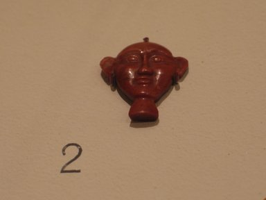 Inlay in the Form of a Hieroglyph, 2008-1075 B.C. Red jasper, 7/8 x 13/16 x 3/16 in. (2.2 x 2 x 0.5 cm). Brooklyn Museum, Charles Edwin Wilbour Fund, 37.1283E. Creative Commons-BY