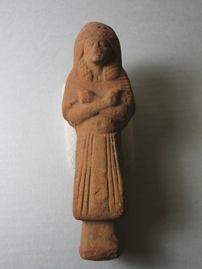 Ushabti, ca. 1292-1190 B.C.E. Clay, 6 x 1 15/16 x 1 3/4 in. (15.2 x 4.9 x 4.4 cm). Brooklyn Museum, Charles Edwin Wilbour Fund, 37.147E. Creative Commons-BY