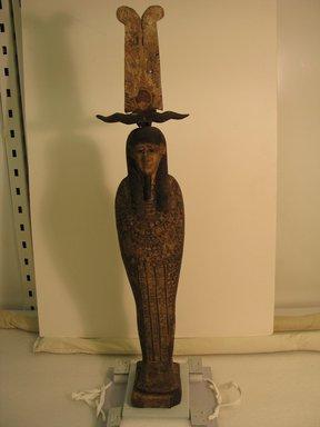 Mummiform Figure of Osiris. Wood, painted, 27 15/16 x 3 9/16 x 6 5/16 in. (71 x 9 x 16 cm). Brooklyn Museum, Charles Edwin Wilbour Fund, 37.1480Ea-c. Creative Commons-BY