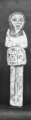 Egyptian. Ushabti of Ainmose, ca. 1292-656 B.C.E. Wood, painted, 8 9/16 x 2 1/16 x 1 1/16 in. (21.8 x 5.3 x 2.7 cm). Brooklyn Museum, Charles Edwin Wilbour Fund, 37.156E. Creative Commons-BY