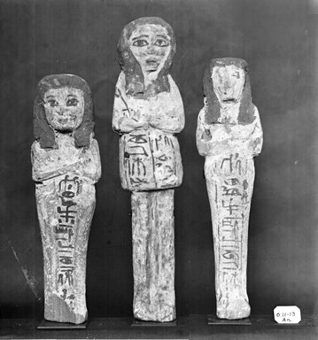 Egyptian. Ushabti of Ainmose, ca. 1292-656 B.C.E. Wood, 7 1/16 x 1 15/16 x 1 1/8 in. (17.9 x 4.9 x 2.8 cm). Brooklyn Museum, Charles Edwin Wilbour Fund, 37.158E. Creative Commons-BY