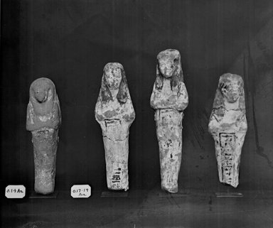 Egyptian. Ushabti, ca. 1292-656 B.C.E. Nile mud, painted, 5 5/16 x 1 7/16 x 7/8 in. (13.5 x 3.6 x 2.3 cm). Brooklyn Museum, Charles Edwin Wilbour Fund, 37.161E. Creative Commons-BY