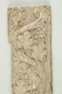 Coptic. Small Panel, 4th-5th century C.E. Ivory, 1 9/16 x 4 7/8 in. (4 x 12.4 cm). Brooklyn Museum, Charles Edwin Wilbour Fund, 37.1631E. Creative Commons-BY