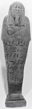 Ushabti of Pedenit, 664-332 B.C.E. Faience, height: 5 13/16 in. (14.8 cm); width: 1 11/16 in. (4.3 cm); depth of base: 1 1/4 in. (3.2 cm). Brooklyn Museum, Charles Edwin Wilbour Fund, 37.168E. Creative Commons-BY