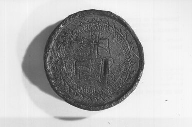 Circular Weight?. Bronze, 1/4 x  greatest diam. 1 1/4 in., 0.1 lb. (0.7 x 3.1 cm, 51.62 g). Brooklyn Museum, Charles Edwin Wilbour Fund, 37.1698E. Creative Commons-BY