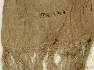 Coptic. Cap. Linen, wool, 14 x 40 in. (35.6 x 101.6 cm). Brooklyn Museum, Charles Edwin Wilbour Fund, 37.1759Ea-b. Creative Commons-BY