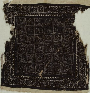 Coptic. Square. Linen, wool, 15 x 15 in. (38.1 x 38.1 cm). Brooklyn Museum, Charles Edwin Wilbour Fund, 37.1771E. Creative Commons-BY