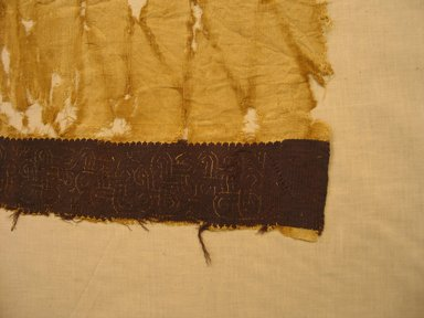 Coptic. Large Tunic. Textile; linen, 48 x 18 in. (121.9 x 45.7 cm). Brooklyn Museum, Charles Edwin Wilbour Fund, 37.1773E. Creative Commons-BY