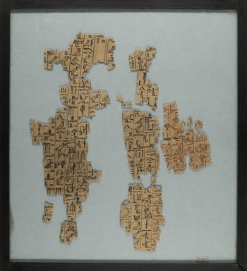Fragments of the Book of the Dead, ca. 1539 - 1190 B.C.E. Papyrus, pigment, Glass: 12 3/16 x 13 1/2 in. (31 x 34.3 cm). Brooklyn Museum, Charles Edwin Wilbour Fund, 37.1787E