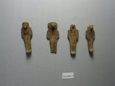 Figures from a Set of the Sons of Horus. Wax, 37.1808Ea: 2 5/16 x 7/8 x 1/2 in. (5.9 x 2.3 x 1.3 cm). Brooklyn Museum, Charles Edwin Wilbour Fund, 37.1808Ea-d. Creative Commons-BY