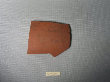 Small Ostracon. Terracotta, pigment, 3 3/8 x 3/16 x 2 5/8 in. (8.5 x 0.5 x 6.7 cm). Brooklyn Museum, Charles Edwin Wilbour Fund, 37.1855E. Creative Commons-BY