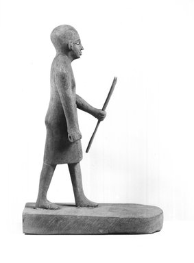 Small Sculpture of Man, 19th century C.E. Wood, Height: 8 9/16 in. (21.7 cm). Brooklyn Museum, Charles Edwin Wilbour Fund, 37.1894E. Creative Commons-BY