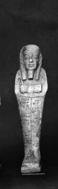 Ushabti of Nesi-Kedwet, 525-343 B.C.E. Faience, 4 9/16 x 1 1/4 in. (11.6 x 3.2 cm). Brooklyn Museum, Charles Edwin Wilbour Fund, 37.197E. Creative Commons-BY