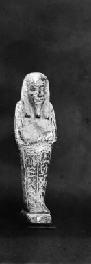 Ushabti of Nesi-Kedwet, 525-343 B.C.E. Faience, 4 7/16 x 1 1/4 in. (11.2 x 3.2 cm). Brooklyn Museum, Charles Edwin Wilbour Fund, 37.200E. Creative Commons-BY