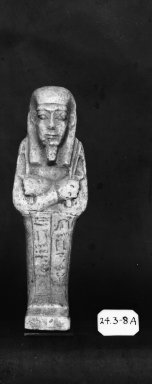 Ushabti of Nesi-Kedwet, 525-343 B.C.E. Faience, 4 5/16 x 1 3/8 in. (11 x 3.5 cm). Brooklyn Museum, Charles Edwin Wilbour Fund, 37.201E. Creative Commons-BY
