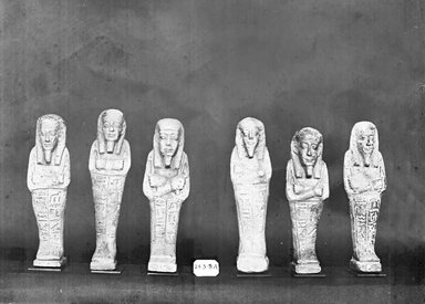 Ushabti of Nesi-Kedwet, 525-343 B.C.E. Faience, 4 5/16 x 1 1/4 in. (11 x 3.2 cm). Brooklyn Museum, Charles Edwin Wilbour Fund, 37.202E. Creative Commons-BY