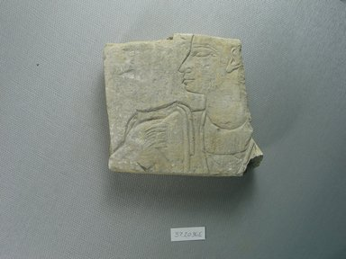 Egyptian. Relief Fragment of a Sem-Priest, ca. 760 - 747 B.C.E. Limestone, 3 13/16 x 4 1/4 x 1 1/4 in. (9.7 x 10.8 x 3.2 cm). Brooklyn Museum, Charles Edwin Wilbour Fund, 37.2036E. Creative Commons-BY