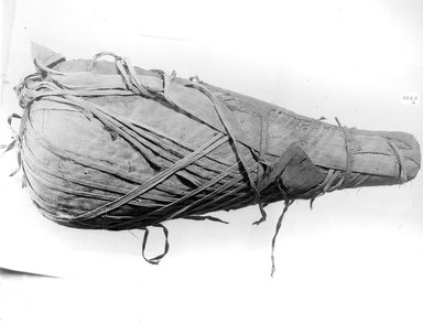 Mummified Ibis. Animal remains, linen, 5 11/16 x 6 7/16 x 15 1/16 in. (14.5 x 16.4 x 38.3 cm). Brooklyn Museum, Charles Edwin Wilbour Fund, 37.2042.19E. Creative Commons-BY