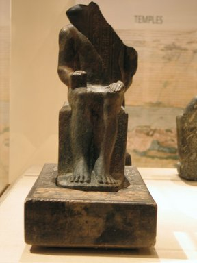 Seated Statuette of Sekhemka, ca. 2400-2345 B.C.E. Anorthosite gneiss and limestone, paint, 15 1/4 x 7 7/8 x 16 1/4 in., 56 lb. (38.7 x 20 x 41.3 cm, 25.4kg). Brooklyn Museum, Charles Edwin Wilbour Fund, 37.23E. Creative Commons-BY