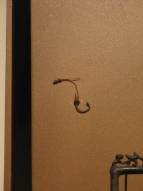 Fish Hook, ca. 1539-1292 B.C.E. Bronze, 9/16 x 3/4 in. (1.4 x 1.9 cm). Brooklyn Museum, Charles Edwin Wilbour Fund, 37.287E. Creative Commons-BY