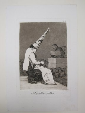 Francisco de Goya y Lucientes (Spanish, 1746-1828). Those Specks of Dust (Aquellos Polbos), 1797-1798. Etching and aquatint on laid paper, Sheet: 11 13/16 x 7 15/16 in. (30 x 20.2 cm). Brooklyn Museum, A. Augustus Healy Fund, Frank L. Babbott Fund, and Carll H. de Silver Fund, 37.33.23