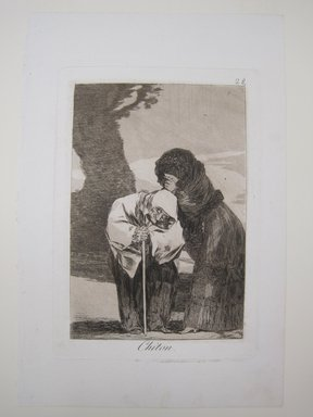 Francisco de Goya y Lucientes (Spanish, 1746-1828). Hush (Chiton), 1797-1798. Etching, aquatint, and burin on laid paper, Sheet: 11 13/16 x 7 7/8 in. (30 x 20 cm). Brooklyn Museum, A. Augustus Healy Fund, Frank L. Babbott Fund, and Carll H. de Silver Fund, 37.33.28