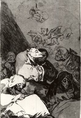 Francisco de Goya y Lucientes (Spanish, 1746-1828). Correction (Correccion), 1797-1798. Etching and aquatint on laid paper, Sheet: 11 7/8 x 7 15/16 in. (30.2 x 20.2 cm). Brooklyn Museum, A. Augustus Healy Fund, Frank L. Babbott Fund, and Carll H. de Silver Fund, 37.33.46