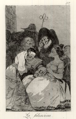 Francisco de Goya y Lucientes (Spanish, 1746-1828). The Filiation (La Filiacion), 1797-1798. Etching and aquatint on laid paper, Sheet: 11 7/8 x 8 in. (30.2 x 20.3 cm). Brooklyn Museum, A. Augustus Healy Fund, Frank L. Babbott Fund, and Carll H. de Silver Fund, 37.33.57