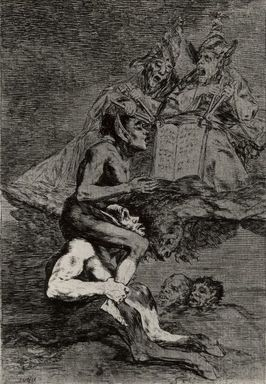 Francisco de Goya y Lucientes (Spanish, 1746-1828). Devota Profesion, 1797-1798. Etching and aquatint on laid paper, Sheet: 11 7/8 x 8 in. (30.2 x 20.3 cm). Brooklyn Museum, A. Augustus Healy Fund, Frank L. Babbott Fund, and Carll H. de Silver Fund, 37.33.70