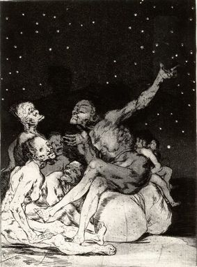 Francisco de Goya y Lucientes (Spanish, 1746-1828). When Day Breaks We Will Be Off (Si amanece; nos vamos), 1797-1798. Etching and aquatint on laid paper, Sheet: 11 7/8 x 8 in. (30.2 x 20.3 cm). Brooklyn Museum, A. Augustus Healy Fund, Frank L. Babbott Fund, and Carll H. de Silver Fund, 37.33.71